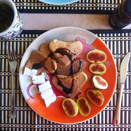 Банановые оладьи (панкейки)