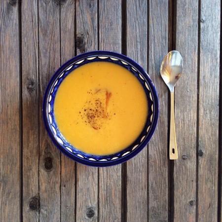 Суп-пюре из батата и цветной капусты