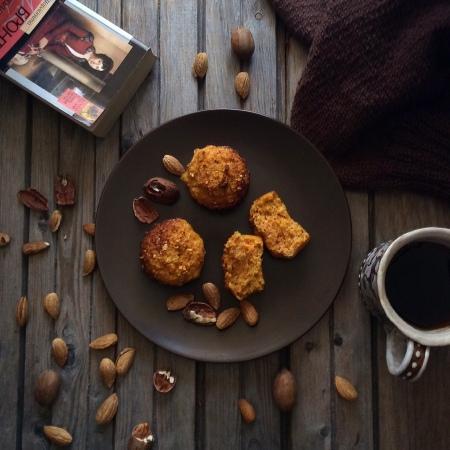 Морковно-кокосовые кексы