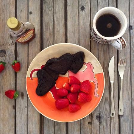 Миндально-шоколадные оладьи