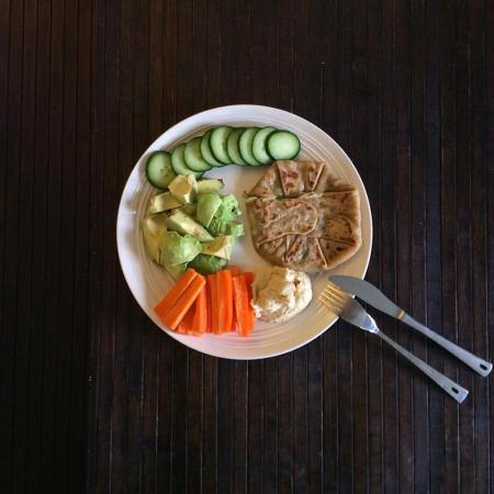 Лепешки с сулугуни и зеленью